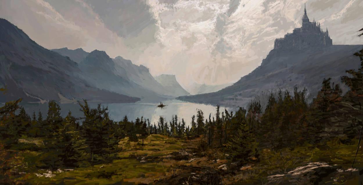 Castle lake by ConfirmedBurger