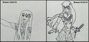 Satsuki Sketch Comparison by Geminithegiant