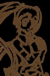[AT] (LINEART) Miku by StalkingP