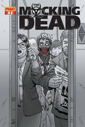 COVER THE MOCKING DEAD ( DYNAMITE COMICS ) by aikauthecolorist