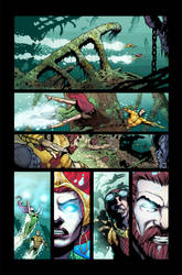 Aquaman color sample by aikauthecolorist