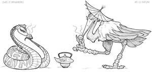 Tea for Fu by KaeMantis