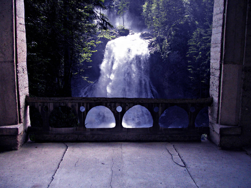 WATERFALL PREMADE BACKGROUND by KerensaW