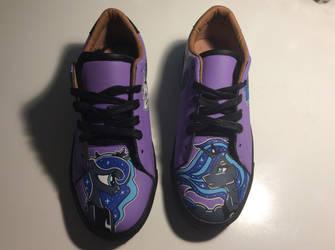Custom shoes princess Luna  by viequidessine