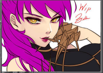 Evelynn WIP by Esther-Shen