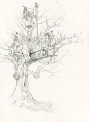 Treehouse - Fairy Home by GabrielEvans