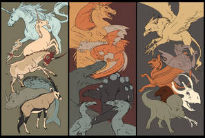 Mythical Creatures by Vamtaro
