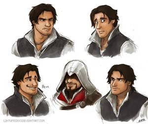 Ezio doodles by Lintufriikki