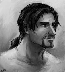 Ezio doodle by Lintufriikki