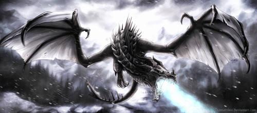 Frost dragon by Lintufriikki