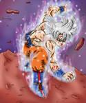 Mastered Ultra Instinct Goku by Gakenzi