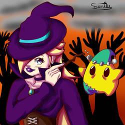 Happy Halloween with Rosalina and Luma! by Gakenzi