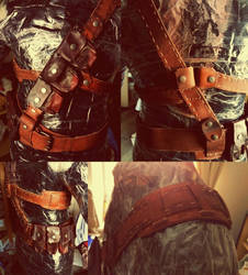 90% finished Fallout 4 harness/utility belt by Yshara