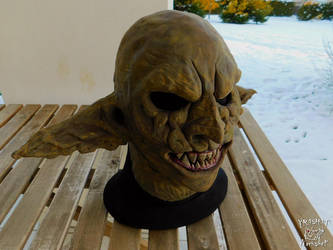LARP Yellowish brown Goblin latex mask by Yshara