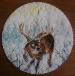 Snowy deer by ArtLucie