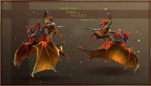 DOTA2 : Feral the Were Bat for Batrider by Anuxinamoon