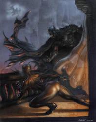 batman vs catwoman by moritat
