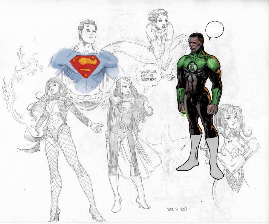 DC sketches by moritat