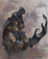 batman perched by moritat