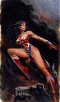 wonder woman painting by moritat