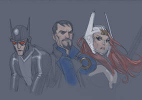 Justice league gods and monsters test by moritat
