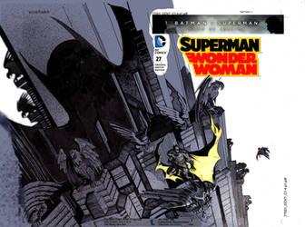 Batman Vs Superman  Color Cover by moritat