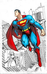 Superman page by moritat