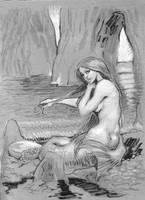 waterhouse mermaid by moritat