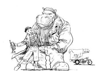 Elephantmen La Strada by moritat