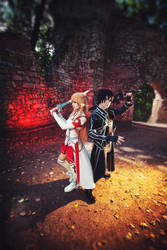 Asuna and Kirito - Sword Art Online by frosel