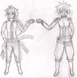 Brofist sketch by Jeroeswu