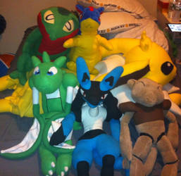 Bedtime Team Of Pokemon Plushies by AdioXGen