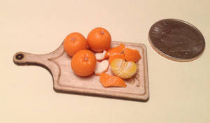 Hand sculpted mini polymer clay oranges by MeganHess