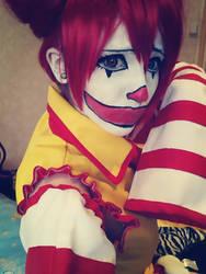 Miku Mcdonald's cosplay by xReitox