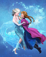 Elsa and Anna by onibox
