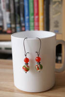 earrings: Millefiori Orange by Margotka