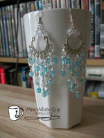earrings: bombaystic turquoise by Margotka