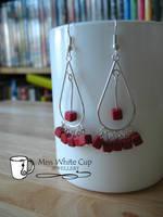 earrings: coral chandelier by Margotka