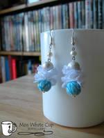 earrings: turquoise buffs by Margotka