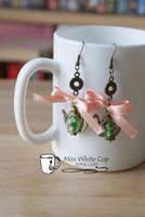 earrings: tea is served II by Margotka