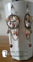 earrings: Steampuncute Pink by Margotka