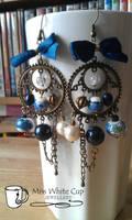 earrings: Steampuncute Blue by Margotka