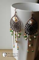 Earrings: St. Paddys copper chandeliers by Margotka