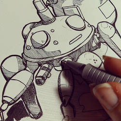 Tachikoma Sketch by Kiccyke