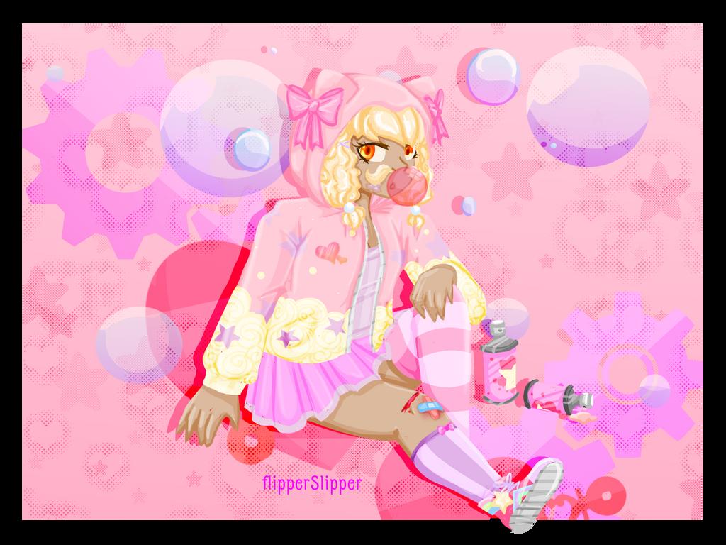 Sweet Rebellion Fairy Kei Mustache Girl By Flipperslipper