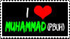 Stamp 03 - I love Muhammad by FullWhiteMoon