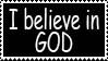 Stamp 15 - I believe in GOD by FullWhiteMoon