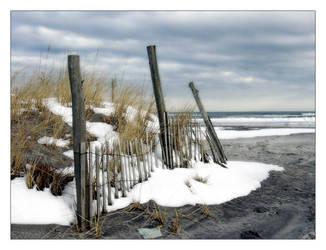 Snowy Beach by OceanStorme