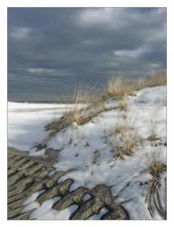 Snowy Beach II by OceanStorme