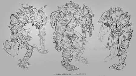 Sea giants NPC sketch by PeterKmiecik